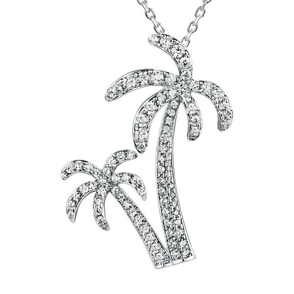 Alamea twin palm tree pendant mozeypictures Choice Image