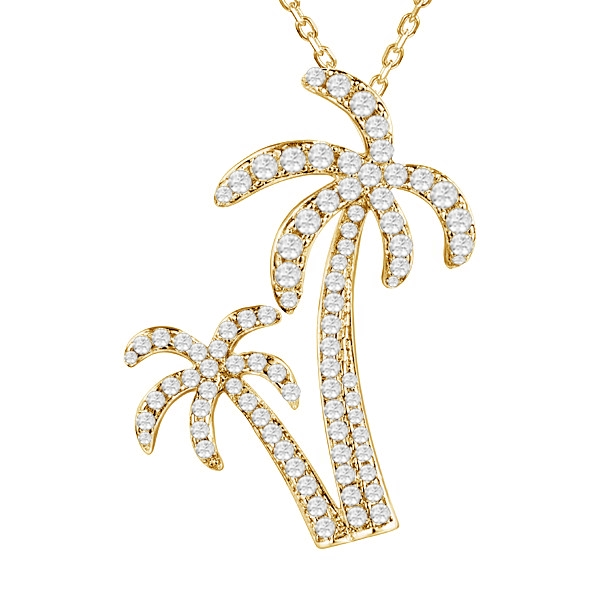 Alamea gold plated palm tree pendant mozeypictures Gallery