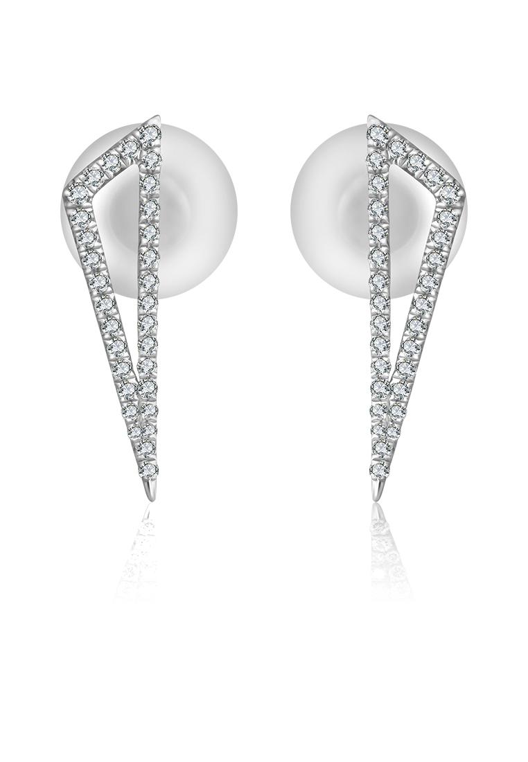 75fa0ce25 18k Obtuse Triangle Diamond Earring