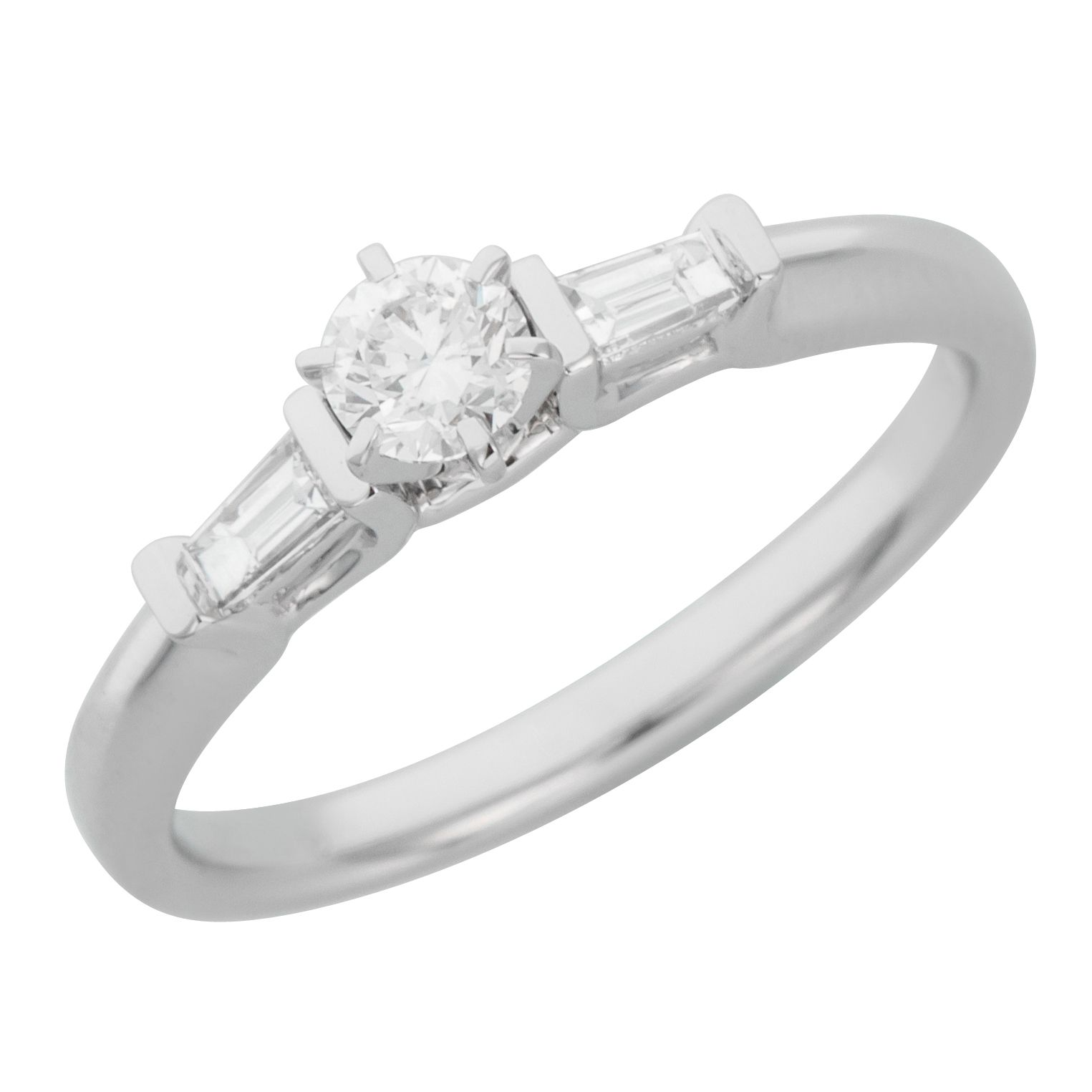 engagement accents jewellery ring gold rng white bridal women s with stone round diamond cut
