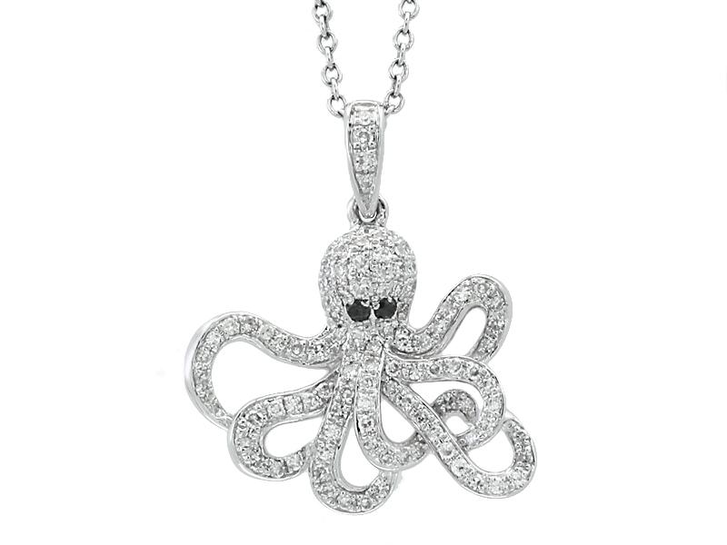 7af75d314 14k Diamond Octopus Necklace